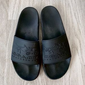 COACH slide sandals